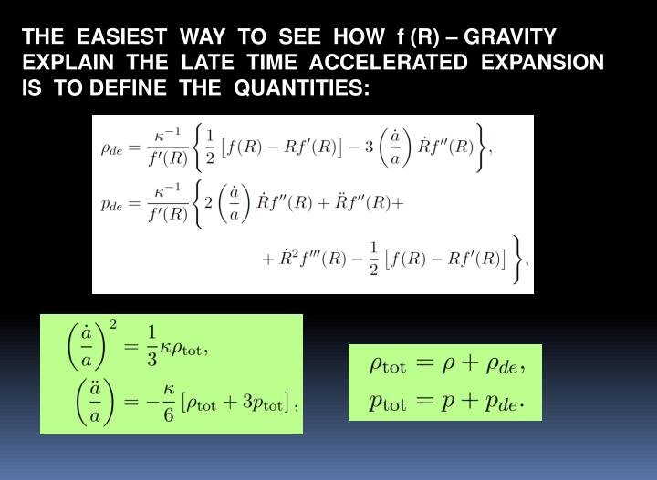 THE  EASIEST  WAY  TO  SEE  HOW  f (R) – GRAVITY