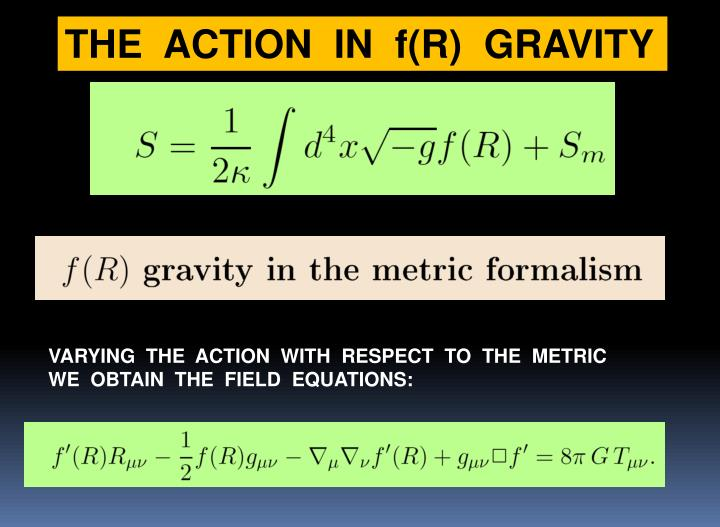 THE  ACTION  IN  f(R)  GRAVITY