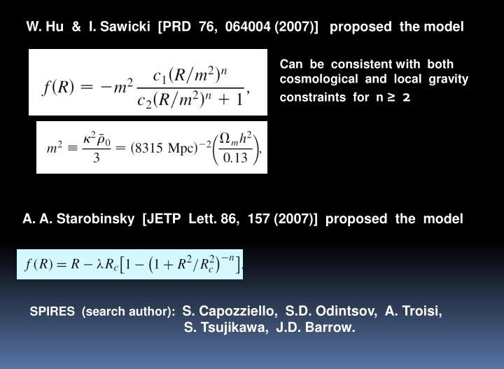 W. Hu  &  I. Sawicki  [PRD  76,  064004 (2007)]   proposed  the model