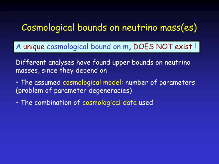 Cosmological bounds on neutrino mass(es)