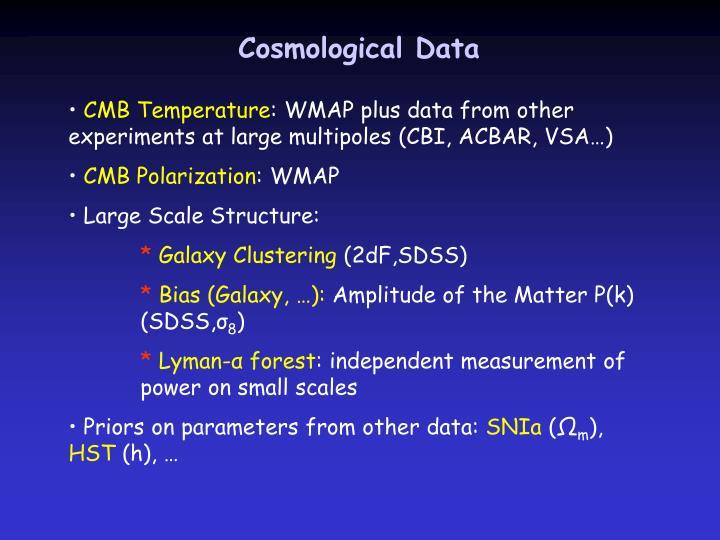 Cosmological Data