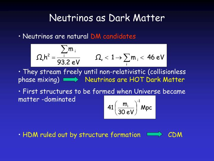 Neutrinos as Dark Matter