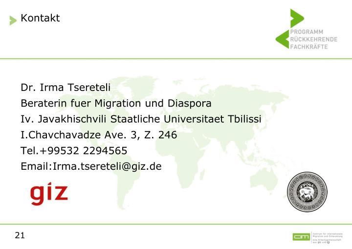 Dr. Irma Tsereteli