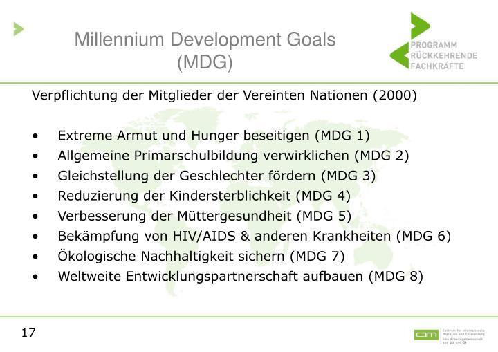 Millennium Development Goals (MDG)
