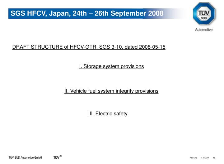DRAFT STRUCTURE of HFCV-GTR, SGS 3-10, dated 2008-05-15