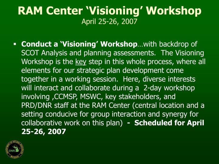 RAM Center 'Visioning' Workshop