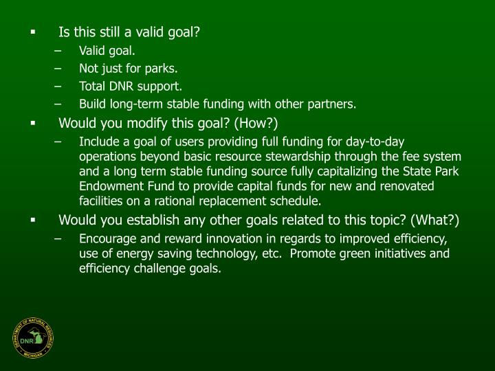 Is this still a valid goal?