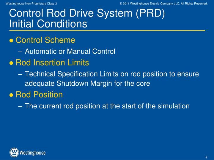 Control Rod Drive System (PRD)