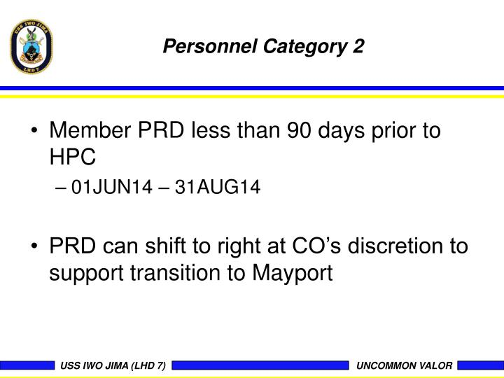 Personnel Category 2