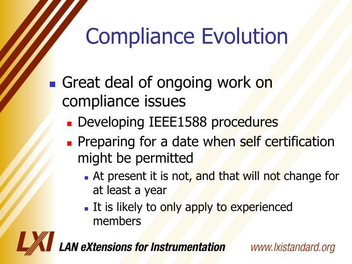 Compliance Evolution