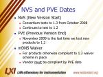 nvs and pve dates