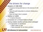 the drivers for change