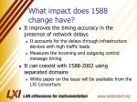 what impact does 1588 change have