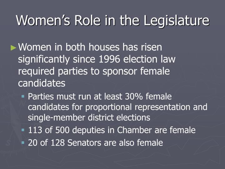 Women's Role in the Legislature