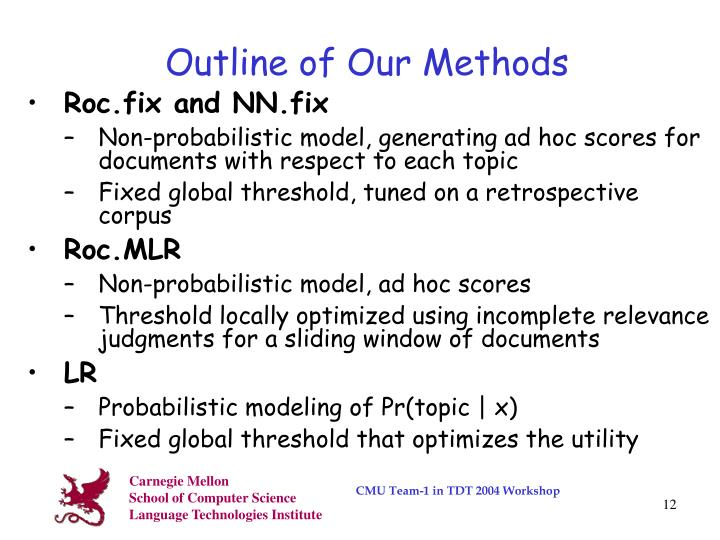 Outline of Our Methods