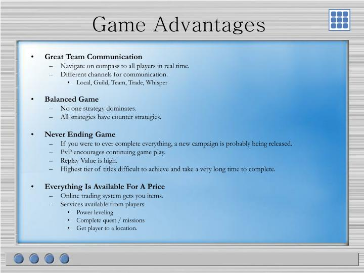 Game Advantages