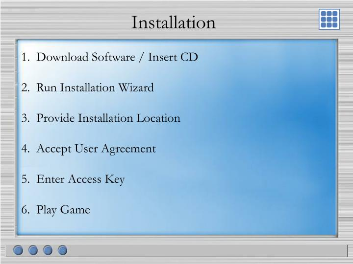 1.  Download Software / Insert CD