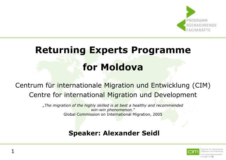 Returning Experts Programme