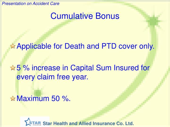 Cumulative Bonus