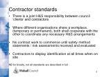contractor standards