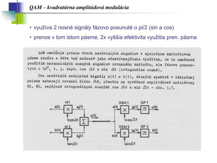 QAM – kvadratúrna amplitúdová modulácia