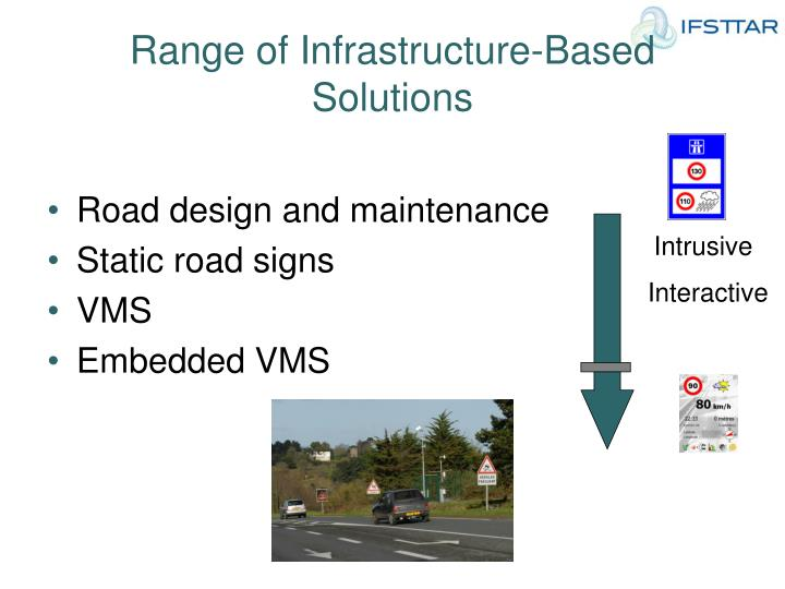 Range of Infrastructure-Based Solutions