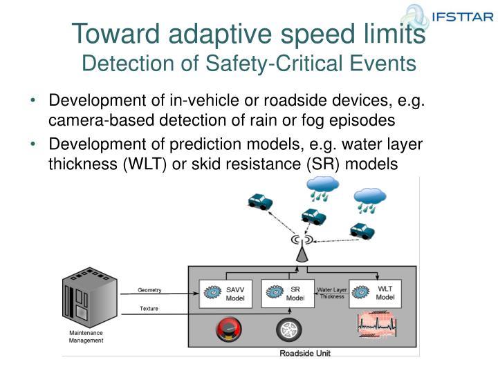 Toward adaptive speed limits