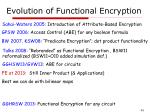 evolution of functional encryption
