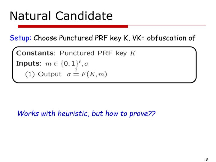 Natural Candidate
