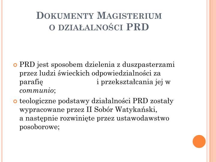 Dokumenty Magisterium