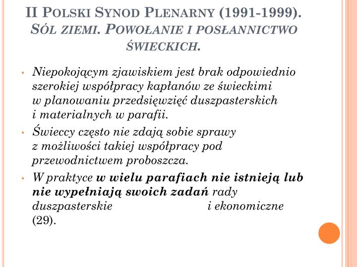 II Polski Synod Plenarny (1991-1999).