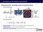 compressive sensing and reconstruction