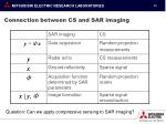 connection between cs and sar imaging