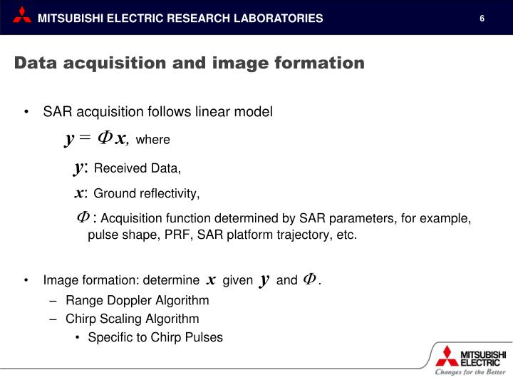 Data acquisition and image formation