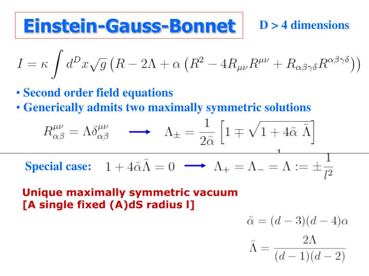 Einstein-Gauss-Bonnet