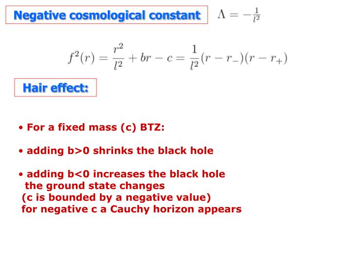 Negative cosmological constant