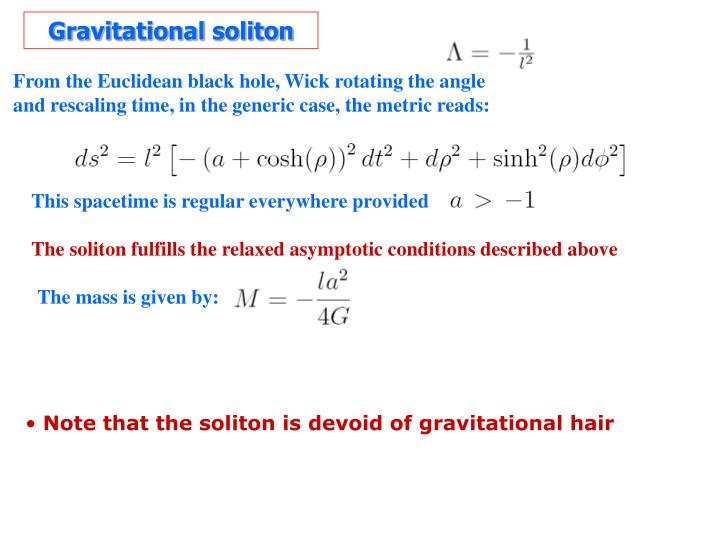 Gravitational soliton