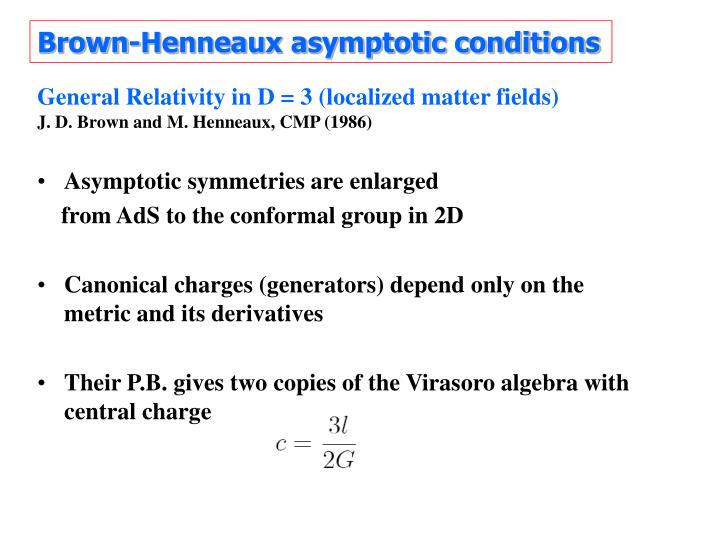 Brown-Henneaux asymptotic conditions