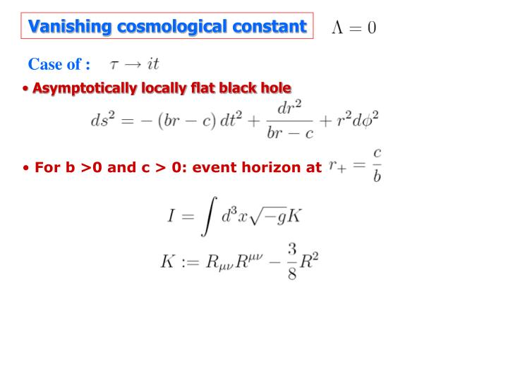 Vanishing cosmological constant