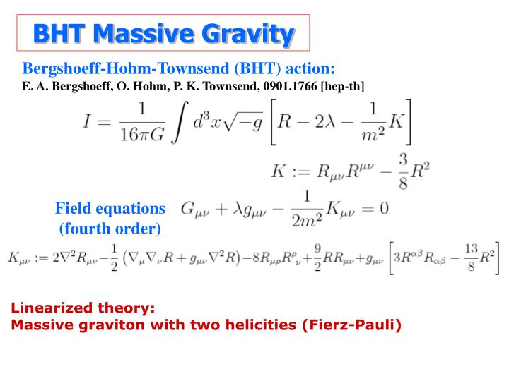 BHT Massive Gravity