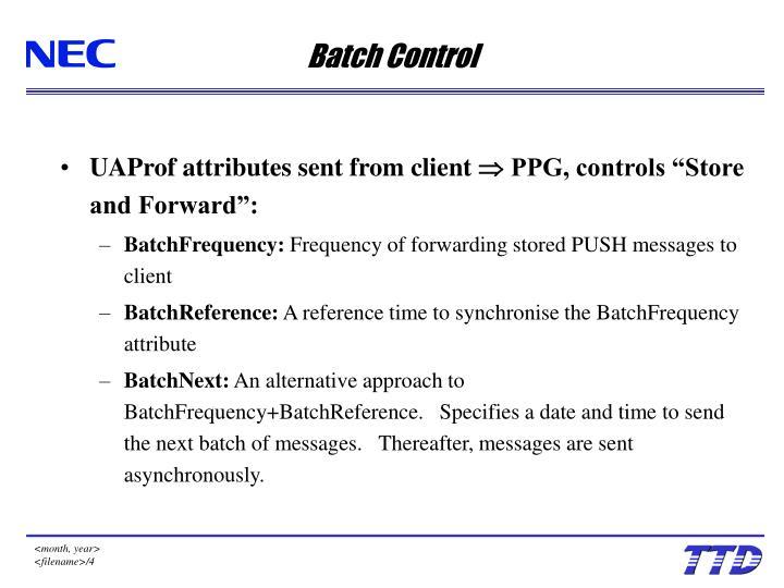 Batch Control