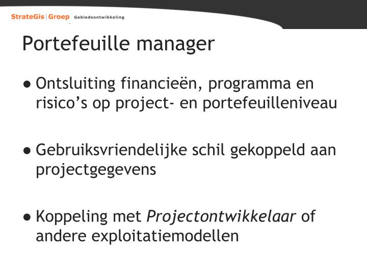 Portefeuille manager