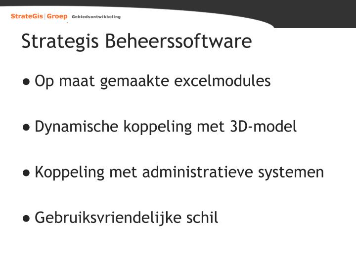 Strategis Beheerssoftware