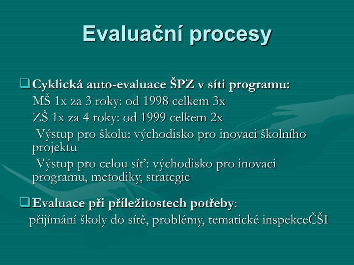 Evaluační procesy