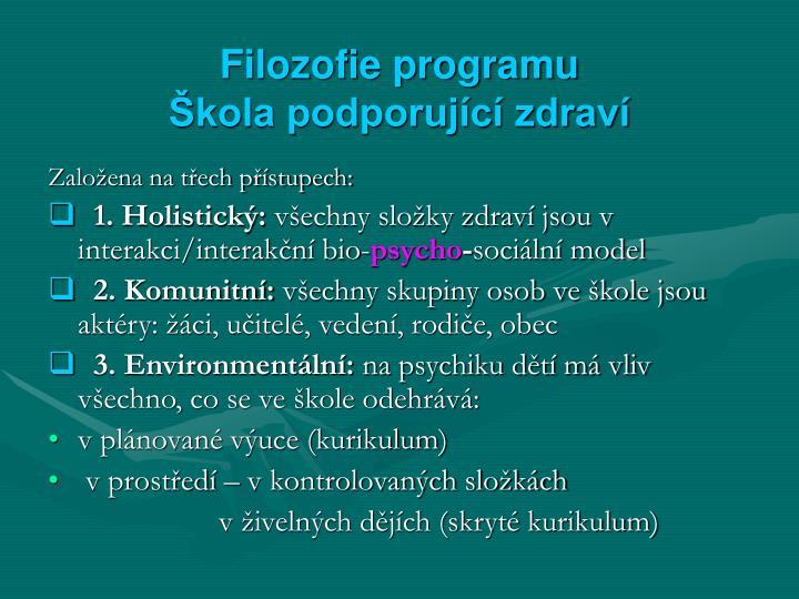 Filozofie programu
