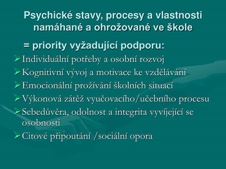 Psychické stavy, procesy a vlastnosti