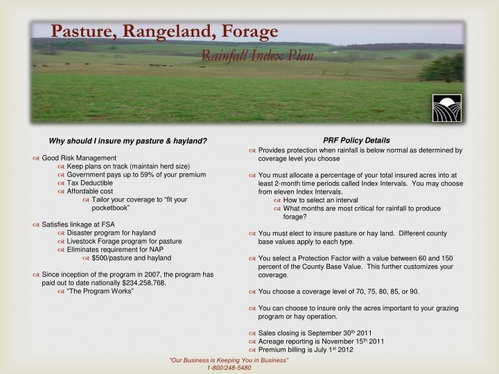 Pasture, Rangeland, Forage