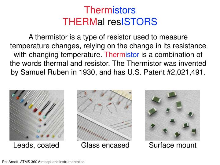therm istors therm al res istors