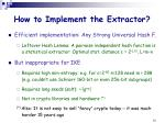 how to implement the extractor