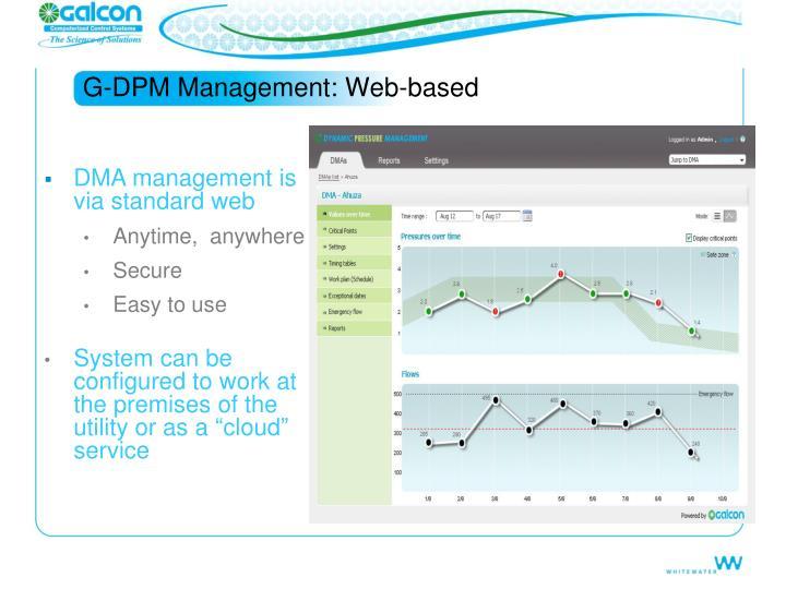 G-DPM Management: Web-based